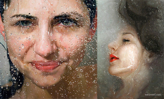 thumb alysaa 20 Hyper Realistic Oil Paintings by Alyssa Monks   Glass, Steam, Water and Flesh
