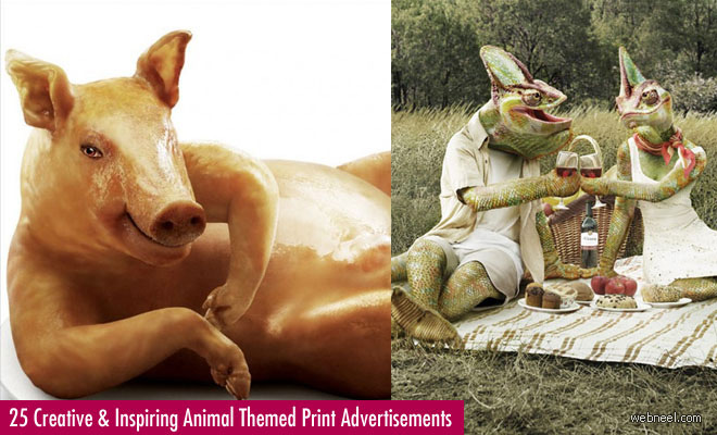 25 Creative and Inspiring Animal Themed Print Advertisements for your inspiration