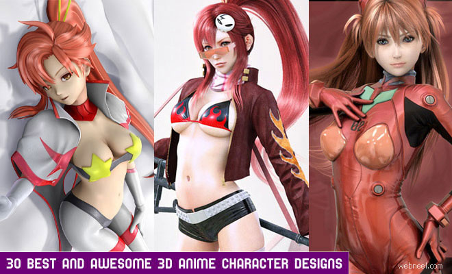 30 Best and Awesome 3D Anime Character designs for your inspiration