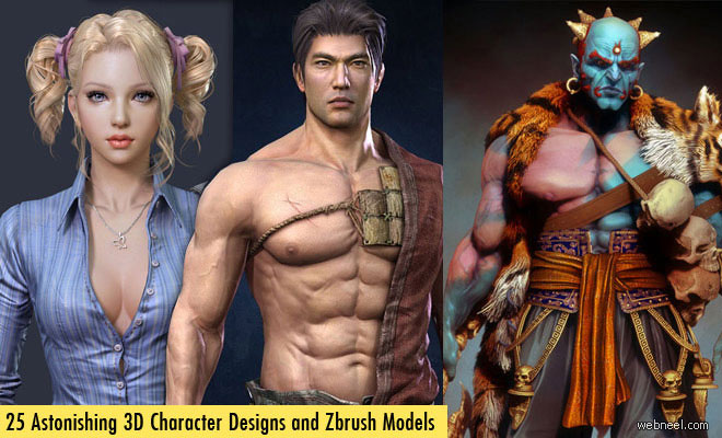 80 Creative ZBrush Models and 3D Sculpture Designs for your inspiration - part 2