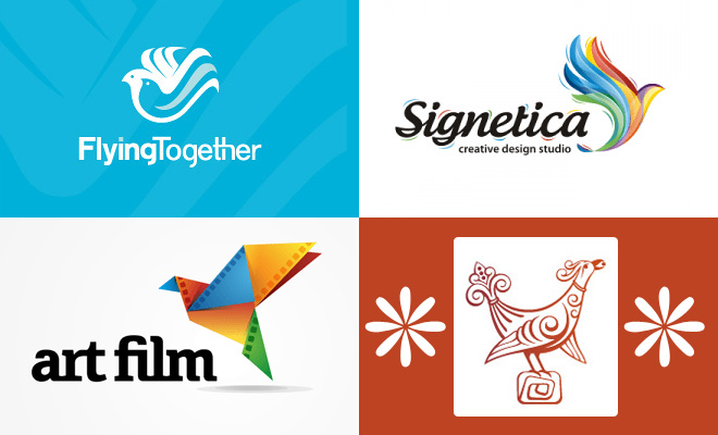 thumb bird 50 Creative Bird themed Logo design examples for your inspiration