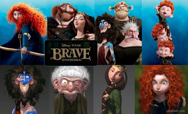 thumb bravem 25 Beautiful Character Designs and Movie stills from Pixars Brave   Animation Movie