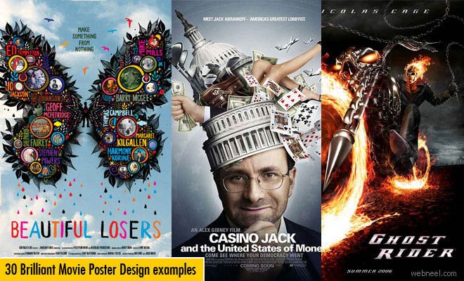30 Brilliant and Beautiful Movie Poster Design examples for your Inspiration