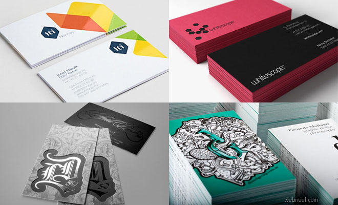 35 Creative and Most Beautiful Business Card Design examples for your Inspiration