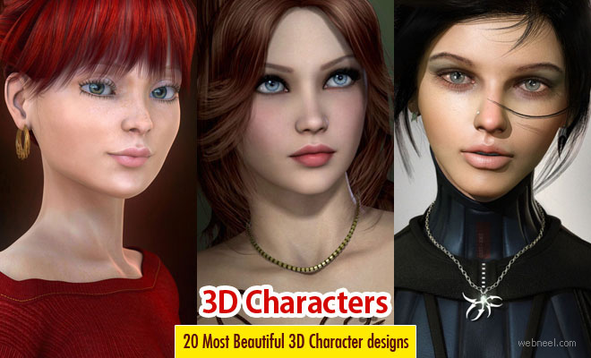 20 Most Beautiful and Stunning 3D Character Designs and Illustrations