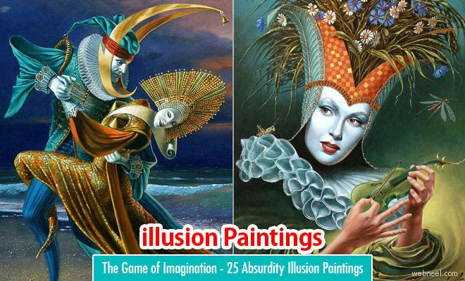 25 Absurdity Surreal Illusion Paintings by Michael Cheval - The Game of Imagination