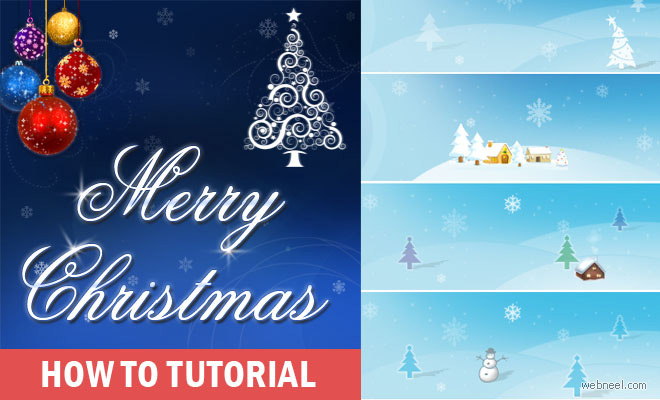 How to Create a Beautiful Christmas Greeting Card - Simple Step by Step Tutorial