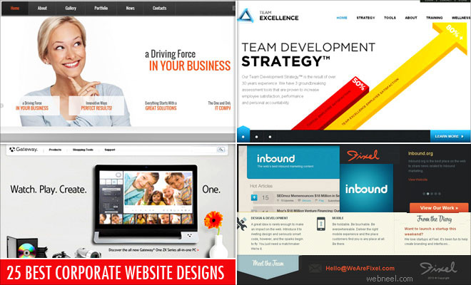 Top Web Design Inspiration: 25 Best Corporate Website Design examples for your inspirationrh:webneel.com,Design