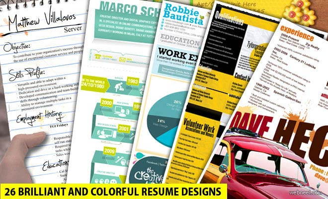 50 Creative Resume Design Samples that will make you rethink your CV - Part 2