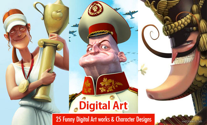 25 Funny Digital Art works and Character Designs by Denis Zilber