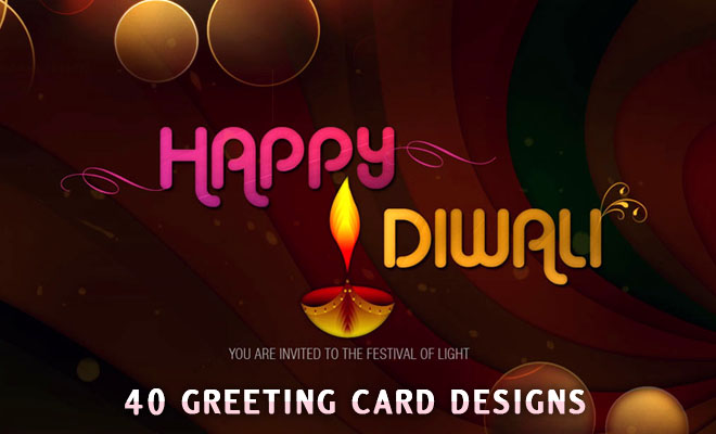 40 Beautiful Diwali Greeting Card Design Resources - Backgrounds and Photos