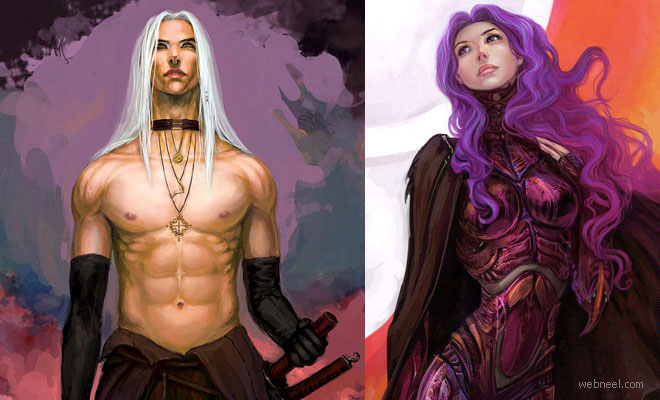 25 Beautiful Digital Fantasy Art works by freelance Illustrator Anndr Kusuriuri