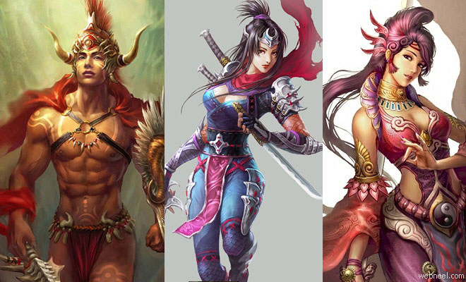 25 Stunning Digital Paintings and Oriental Fantasy Characters by Guangjian Huang