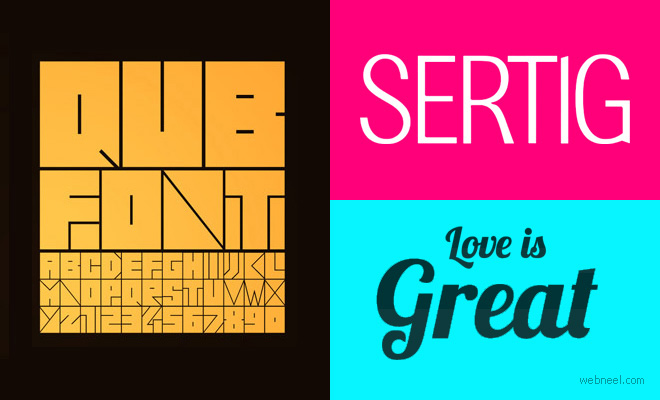 21 Fresh Free Fonts for Graphic and Web Designers - Download now 