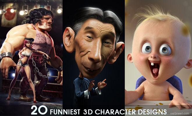 20 Most Funniest 3D character designs - 3D Funny Characters