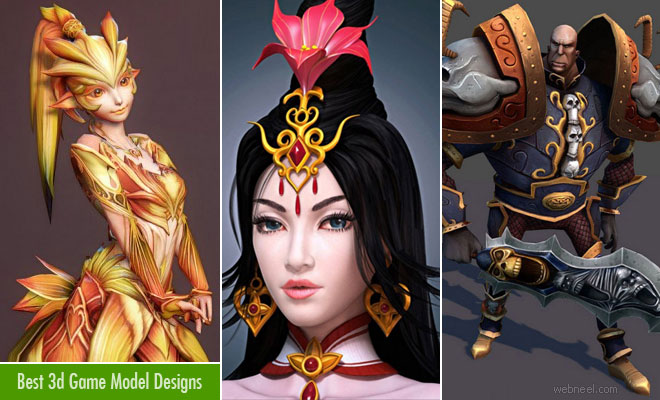 25 Most Beautiful 3d Game Character Design examples for your inspiration