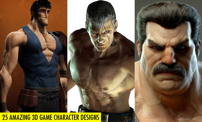 25 Amazing 3D Game Character Design Masterpieces and Tips Tricks for beginners