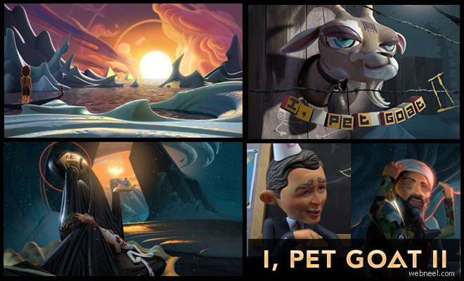 thumb goatt I, pet goat II   Best 3D Animated Short Film   Beautiful Animation and character designs