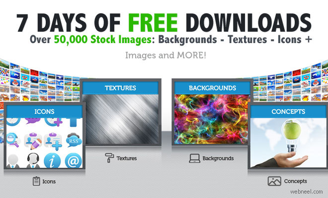 7 Days of Complimentary Downloads: 50,000 Graphics and Images