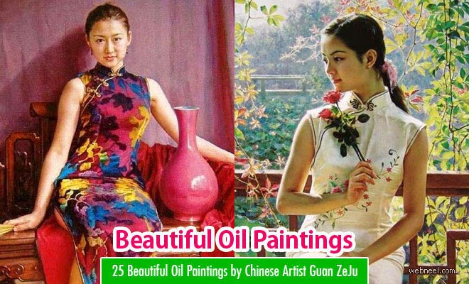 25 Beautiful Oil Paintings by Chinese Artist Guan ZeJu