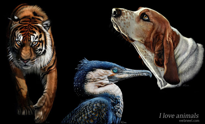 20 Beautiful and Realistic Animal Paintings by Heather Lara