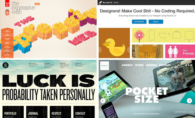 50 Creative Html5 Websites Design examples from Top Designers - part 2