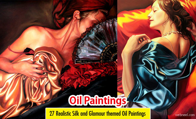 27 Realistic Silk themed Oil Paintings by Kathrin Longhurst