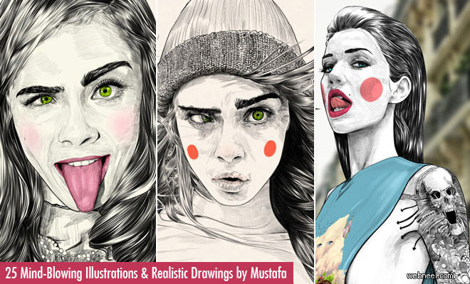 25 Mind-Blowing Fashion Illustrations and Realistic Drawings by Mustafa Soydan