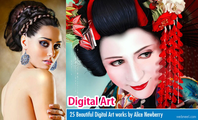 25 Beautiful Digital Paintings and Art works by Alice Newberry