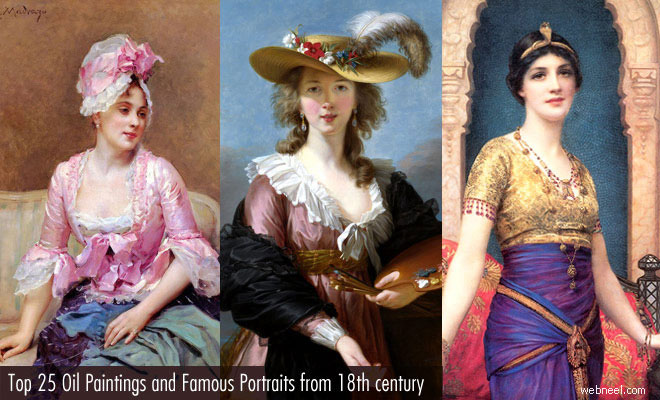 Top 25 Oil Paintings and Famous Portraits from 18th century