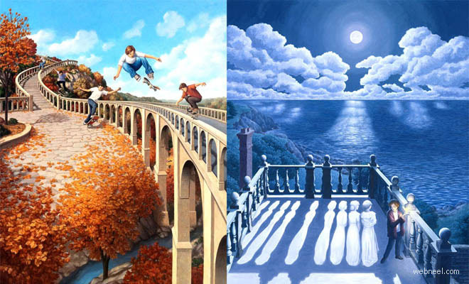 thumb optrob 25 Fantastic Optical Illusion Art works and Paintings by Rob Gonsalves