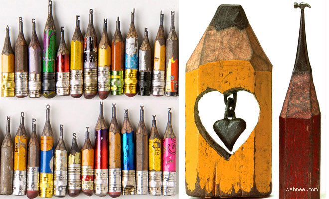 20 Incredible Pencil Sculpture Masterpieces by Dalton Ghetti