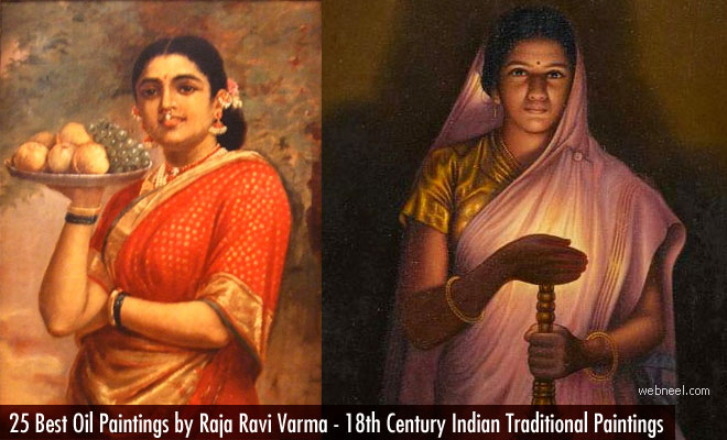 25 Best Oil Paintings by Raja Ravi Varma - 18th Century Indian Traditional Paintings