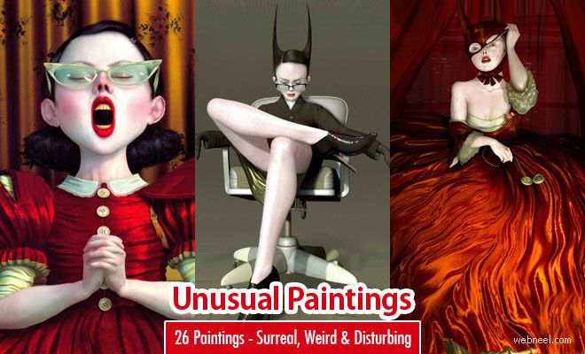 26 Unusual Paintings by Ray Caesar - Surreal, Weird and Disturbing