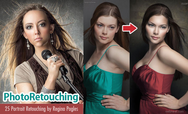 28 Awesome Portrait Photo Retouching works by Regina Pagles - See After Before Photos
