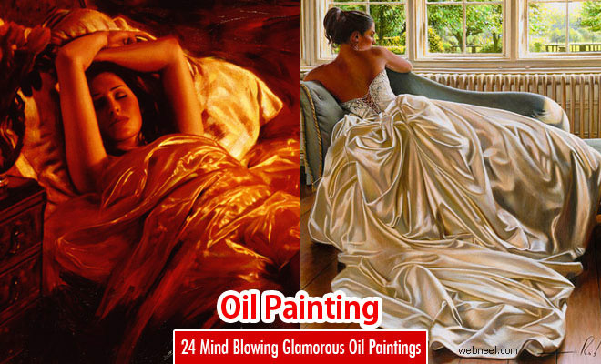 24 Mind Blowing Glamorous Oil Paintings by Famous Artist Rob Hefferan