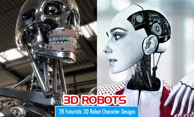 28 Best Futuristic and Glamorous 3D Robot Character Designs for your inspiration