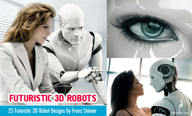 25 Futuristic 3D Robot Designs by Franz Steiner - Relationship with Human