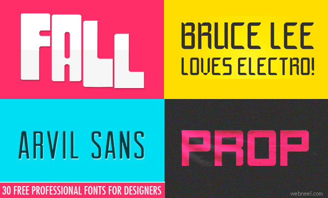 30 Royalty Free Professional fonts for Designers - Download now