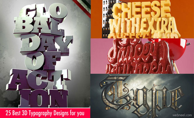 25 Best 3D Typography Designs and Ads for your Inspiration