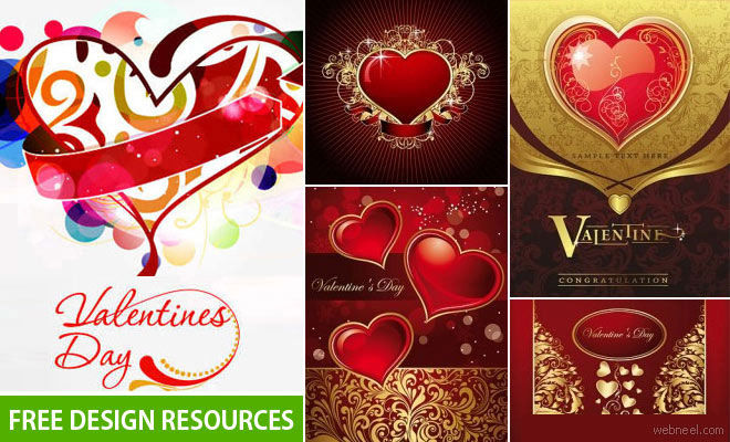 50 valentine's day free design resources - download free vectors, Ideas