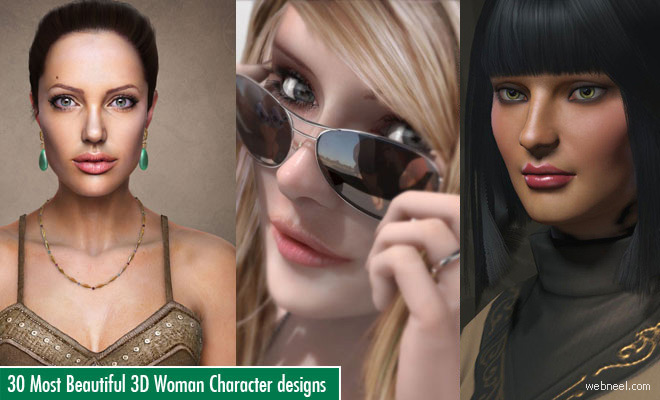 30 Most Beautiful 3D Woman Character designs for your inspiration