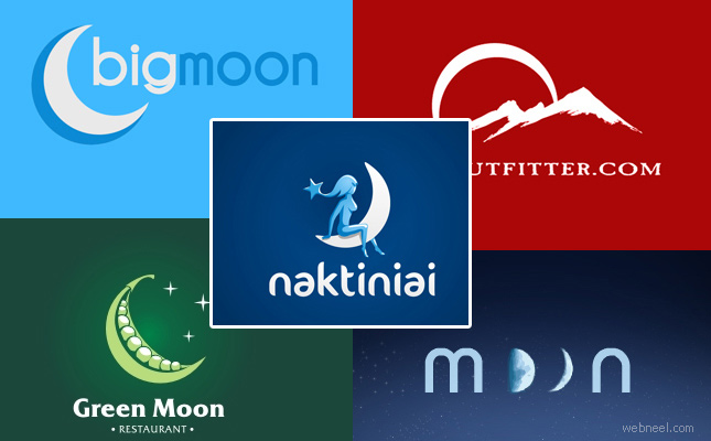 thumb 9 25 Inspired Logo Design Inspiration for Moon concept