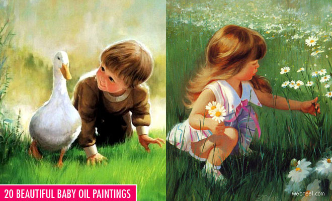 20 Beautiful Baby Oil Paintings - Inspiring collection
