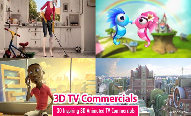 30 Beautiful 3D Animated TV Commercials: 3D Animation, Motion Graphics and Special Effects