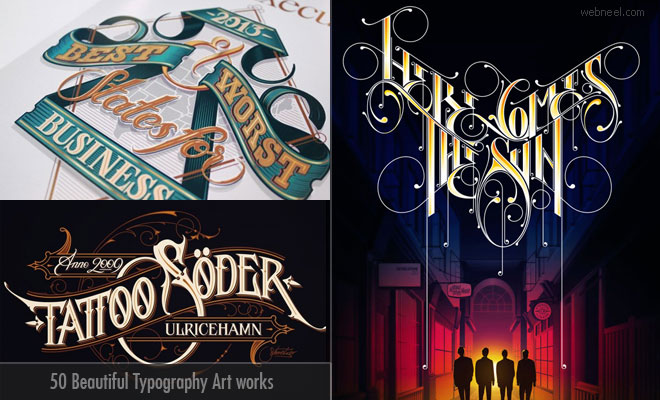 50 Creative Typography Art works and Illustration ideas