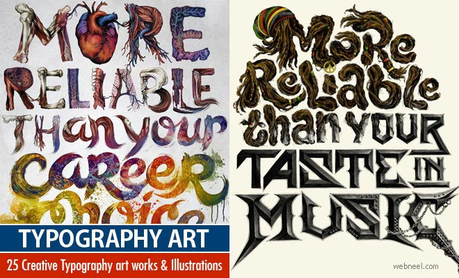 25 Creative Typography art works and Typography Illustrations