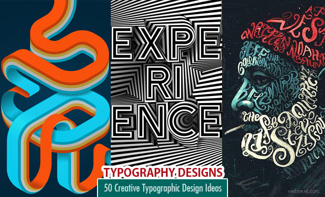 50 Creative Typographic Design Ideas for your inspiration