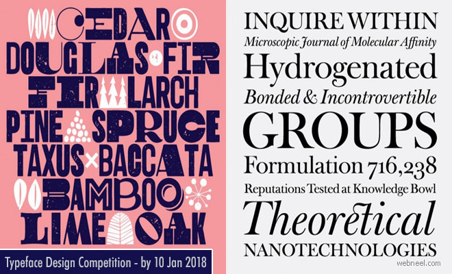 21st TDC Typeface Design Competition calls for entries - 10 Jan 2018
