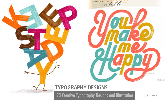 23 Creative Typography Designs and illustration ideas for you